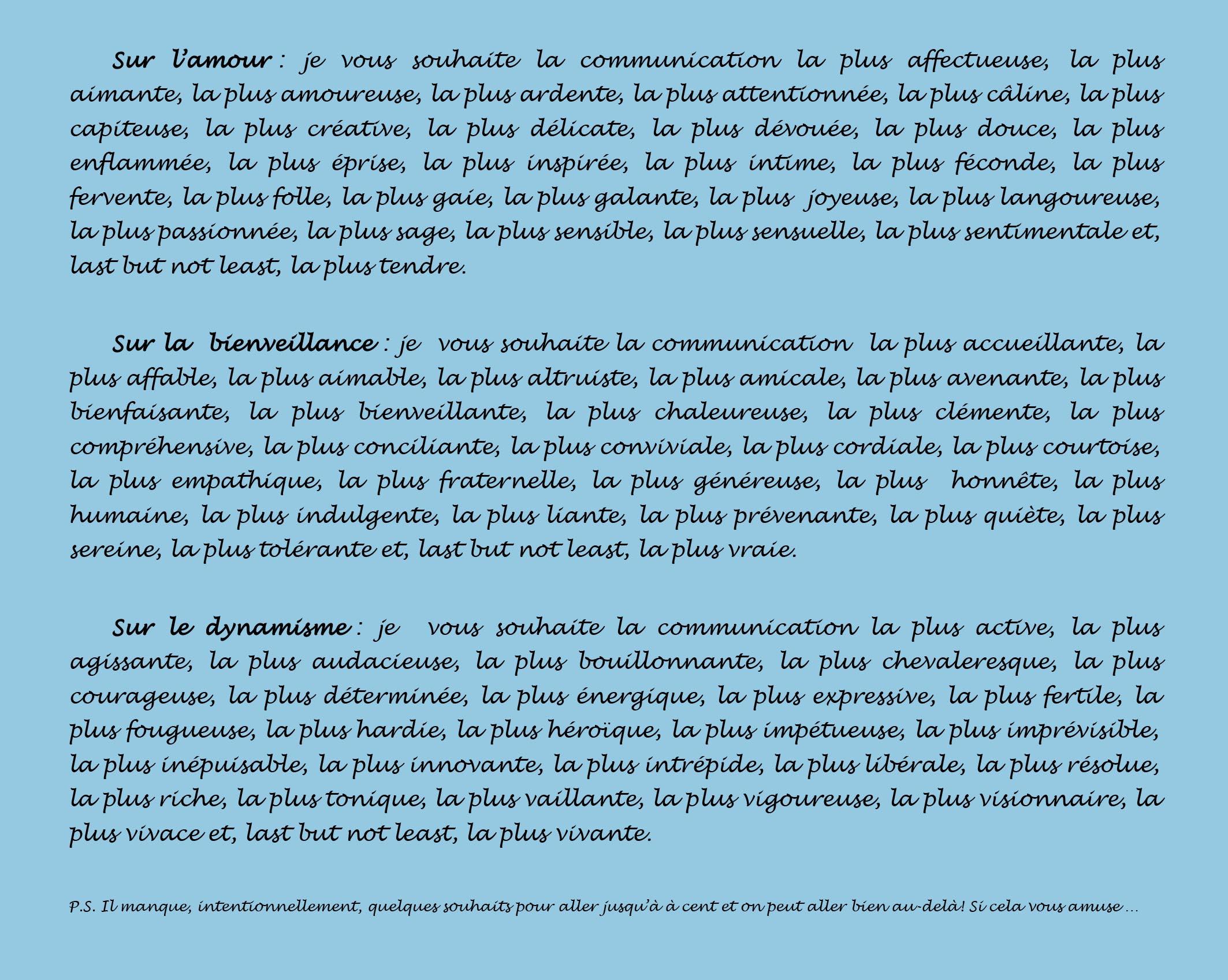 Trois voeux et 100 souhaits français